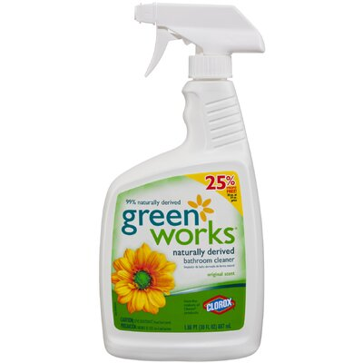 Clorox Company 30 Oz Green Works Naturally Derived Bathroom Cleaner