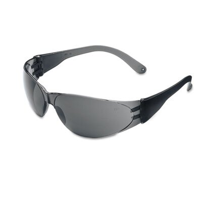 Crews® Checklite Scratch-Resistant Safety Glasses, Gray Lens