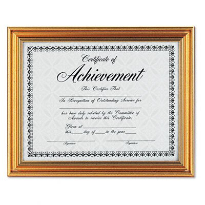 "DAX® Antique Colored Document Metal Frame with Certificate, 8.5"" x 11"""
