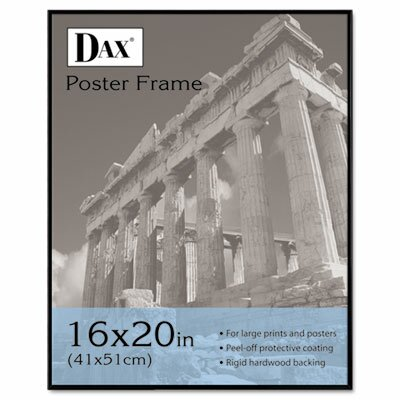 DAX® Coloredge Poster Frame with clear plastic window, 16 x 20, Clear Face/Black Border