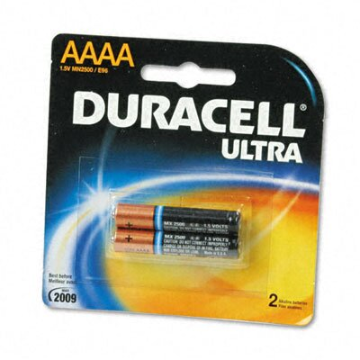 Duracell Ultra Alkaline Batteries, AAAA, 2/pack