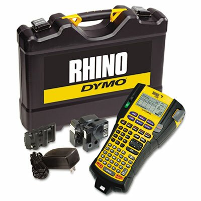 Dymo Corporation Rhino 5200 Industrial Label Maker Kit, 5 Lines, 6-1/10w x 11-2/9d x 3-1/2h