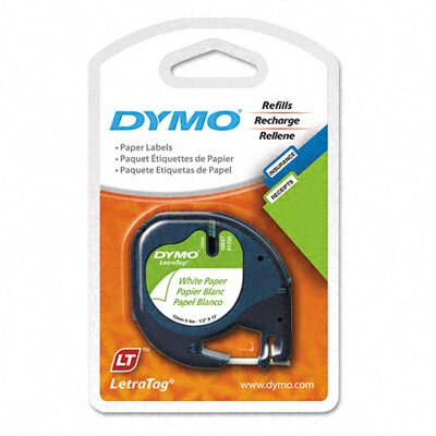 Dymo Corporation Letratag Paper Label Tape Cassettes, 2/Pack
