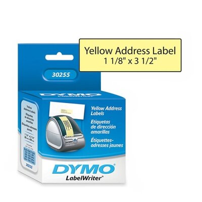 Dymo Corporation Labelwriter Address Labels, 130 Labels/Roll, 1 Roll/Box