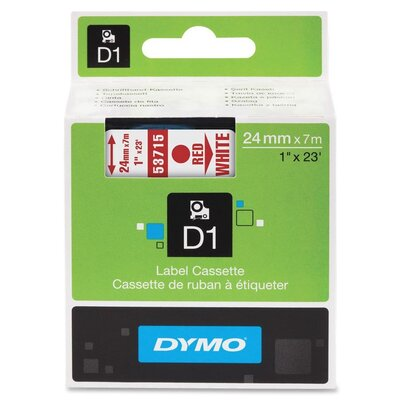 Dymo Corporation Red/White Label Cassette