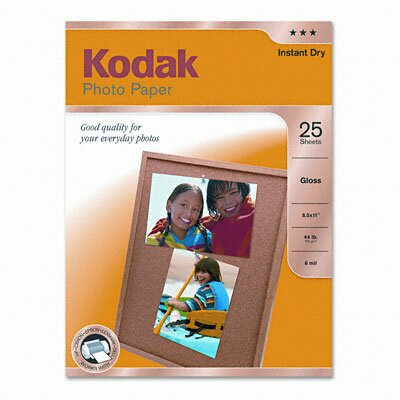 Eastman Kodak Glossy Photo Paper, 25 Sheets/Pack
