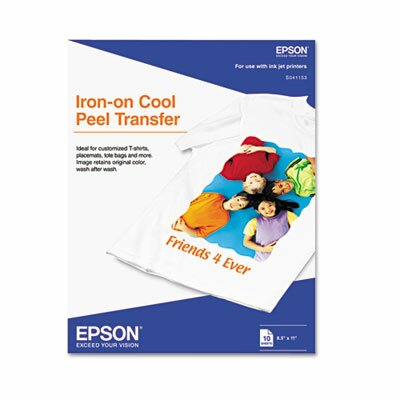 Epson America Inc. Iron-On Inkjet Transfer/Pack