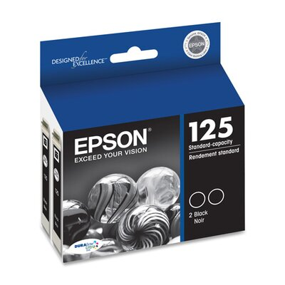 Epson America Inc. Ink Cartridge, 230 Page Yield, 2 per Pack, Black