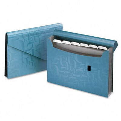 Esselte Pendaflex Corporation Essentials Expanding File, 7 Pockets, Poly, 13 1/2 x 9, Blue