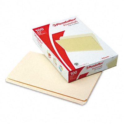 Esselte Pendaflex Corporation Essentials File Folders, Straight Cut, Top Tab, Legal, Manila, 100/Box