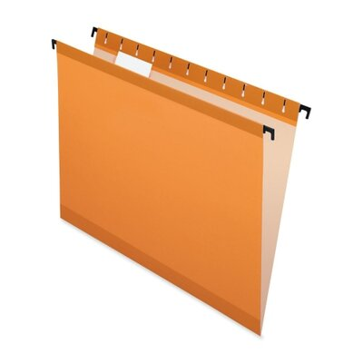 Esselte Pendaflex Corporation Hanging File Folders,1/5 Tabs,Letter,20/BX,Orange