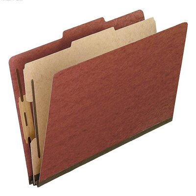 Esselte Pendaflex Corporation Pressboard Classification Folders, Legal, Four-Section, 10/Box