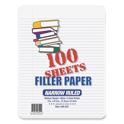 Esselte Pendaflex Corporation Narrow Rule Filler Paper (Pack of 100)