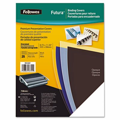Fellowes Mfg. Co. Futura Presentation Binding System Covers, 11 X 8-1/2, 25/Pack