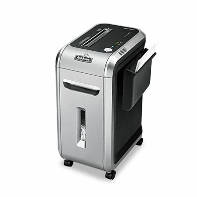 Fellowes Mfg. Co. Intellishred Heavy-Duty SB-99Ci Confetti-Cut Shredder, Black/Gray