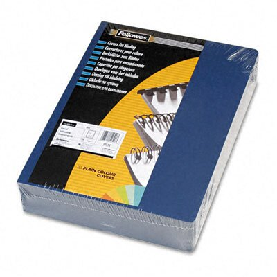 Fellowes Mfg. Co. Linen Texture Binding System Covers, 11-1/4 X 8-3/4, 200/Pack