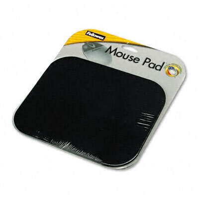 Fellowes Mfg. Co. Polyester Mouse Pad, Nonskid Rubber Base, 9 X 8