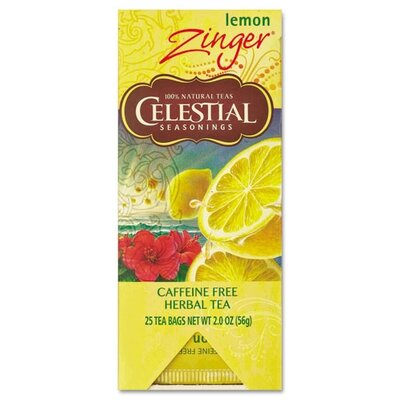 FIVE STAR DISTRIBUTORS, INC. Celestial Seasonings Tea, Herbal Lemon Zinger, 25/Box