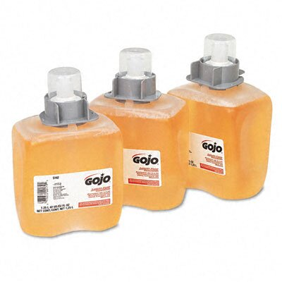 GOJO Industries Fmx-12 Foam Hand Wash, Orange Blossom, Fmx-12 Dispenser, 1250Ml Pump, 3/Carton