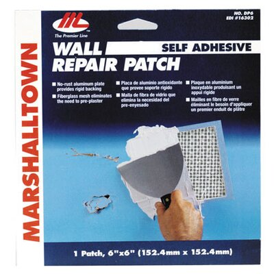 "Marshalltown 6"" X 6"" Wall Repair Patch Kit DP6"