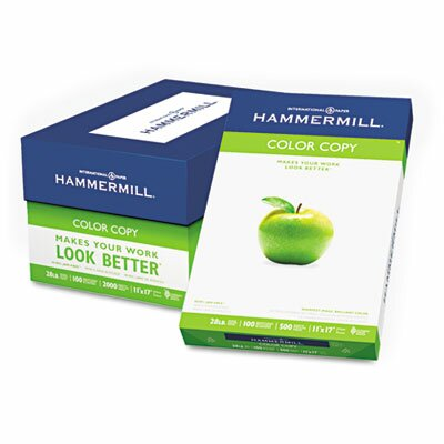 Hammermill Color Copy Paper, 100 Brightness, 28Lb, 11 X 17, 500/Ream
