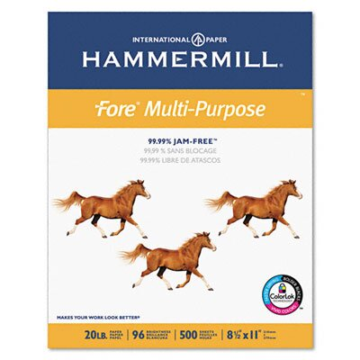 Hammermill Fore MP Office Machine Paper, 96 Brightness, 20lb, Letter, 5,000 Sheets/Carton