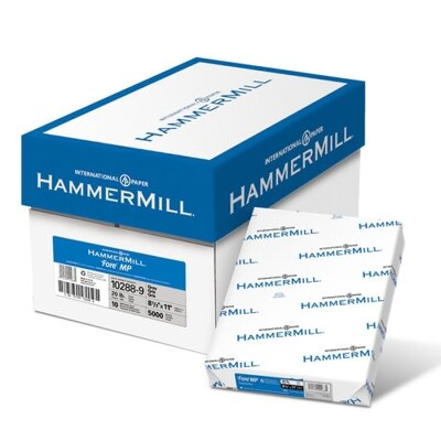 "Hammermill Colored Copy Paper, 20Lb, 8-1/2""x11"", 500/RM, Gray"