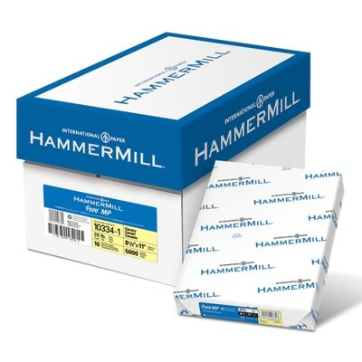 "Hammermill Colored Copy Paper, 20Lb, 8-1/2""x11"", 500/RM, Canary"
