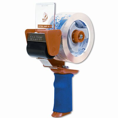 "HENKEL CORPORATION Bladesafe Antimicrobial Tape Gun w/Tape, 3"" Core, Metal/Plastic, Orange"
