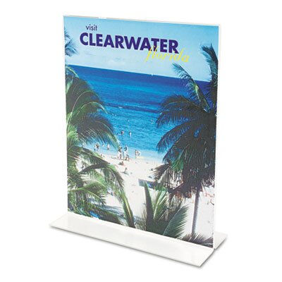 Deflect-O Corporation Classic Image Stand-Up Two-Sided Desktop Sign Holder, Plastic, 4 x 6