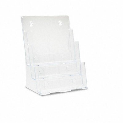 Deflect-O Corporation Large Plastic Desktop Literature Display Rack, Clear