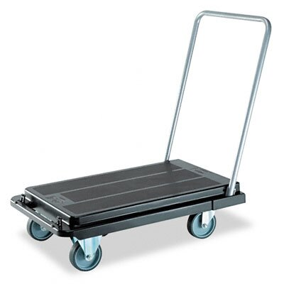 Deflect-O Corporation Heavy-Duty Platform Cart, 500lb Capacity, 20-9/10w x 32-5/8d x 9h, Black