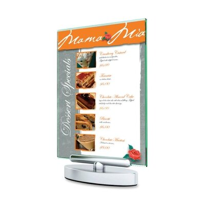 "Deflect-O Corporation Swivel Sign Holder, Stand-Up, 5""x7"",Clear"