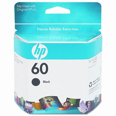 HP CC640WN (HP60) Inkjet Cartridge, Black