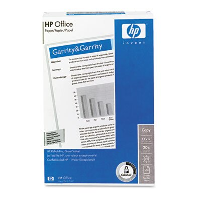 HP Inkjet Printer Paper, 92 Brightness, White, 11 x 17, 500 Sheets