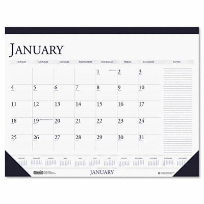 House of Doolittle Two-Color Monthly Desk Pad Calendar with Large Notes Section, 22 x 17, 2013