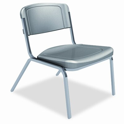 Iceberg Enterprises Rough 'n' Ready Mid-Back Leather Big and Tall Stacking Chair