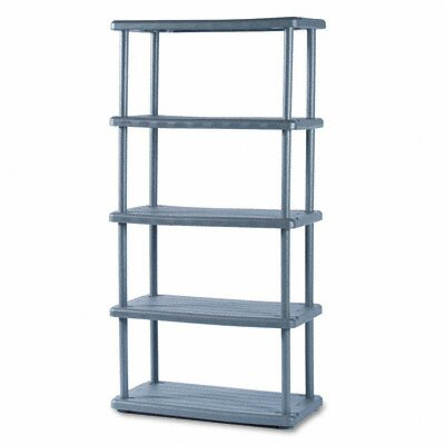 Iceberg Enterprises Rough N Ready 5 Shelf Open Storage System, Resin, 36W X 18D X 74H