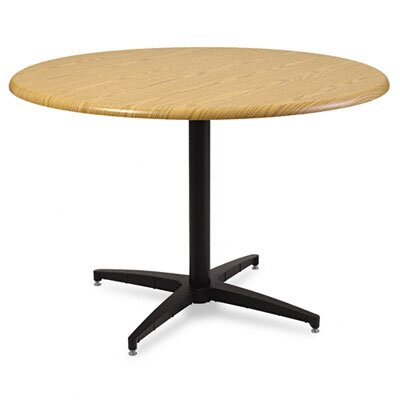 "Iceberg Enterprises Officeworks Round Table Top, 42"" Diameter, Light Oak"