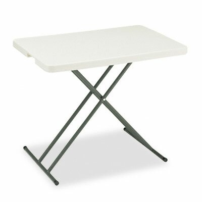 Iceberg Enterprises Indestruc-Tables Too Personal Folding Table, 30w x 20d, Platinum