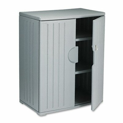 Iceberg Enterprises Officeworks Resin Storage Cabinet, 36W X 22D X 46H