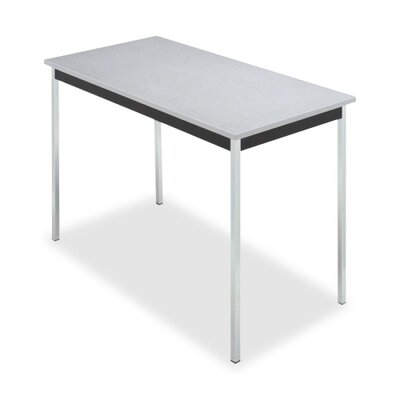 "Iceberg Enterprises Utility Table, 48""x24""x29"", Chrome Legs, Granite/Black"