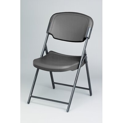 Iceberg Enterprises Folding Chair in Charcoal (Pack of 4)
