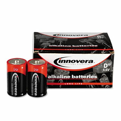 Innovera® Alkaline Batteries, D, 12/pack