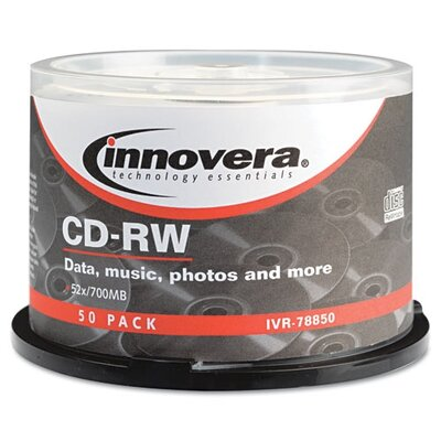 Innovera® CD-RW Disc, 50/Pack