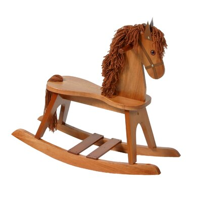 PlayTyme Child's Rocking Horse in Cognac Brown