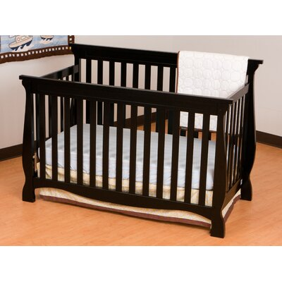Storkcraft Carrara Fixed Side Convertible Crib in Black