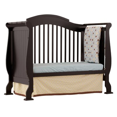 Storkcraft Valentia Fixed Side Convertible Crib in Black