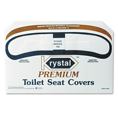 Krystal Boardwalk Premium Half-Fold Toilet Seat Covers, 250 Covers/Box, 10 Boxes/Carton