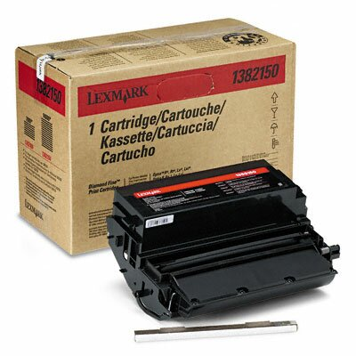 Lexmark International 1382150 Laser Cartridge, High-Yield, Black